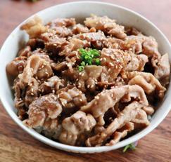 유자청 요리 / 돼지고기 유자청 덮밥