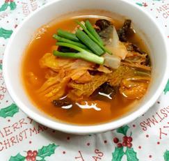 국물이 개운한 황태배추국, 국밥