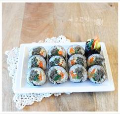 고추 멸치김밥, 멸치고추 김밥만들기