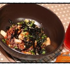 깍두기 비빔밥