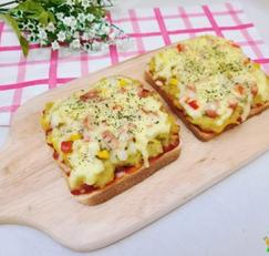 간단간식-식빵 고구마 피자 만들기