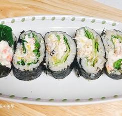<만남의 광장> 백종원님의 홍게살김밥 만드는법....