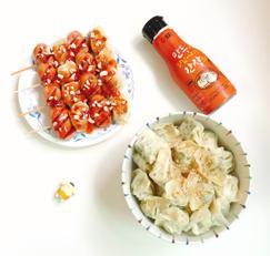 만두소세지꼬치 만두비빔밥 만들기 샘표 만두간장과 함께 해요 :)
