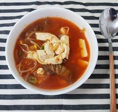 김치두부콩나물국 끓이는법, 신김치요리