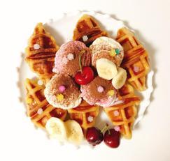 크로플 만들기 고메 크로와상 생지로 아이스크림 와플을 만들어요 :)