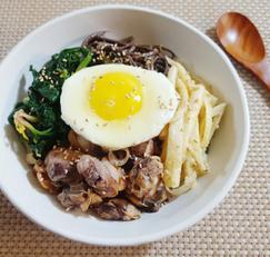 [꼬막비빔밥 만드는 법]삼색나물 초고추장 넣고 비벼 먹는 맛있는 비빔요리