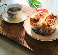 한우떡갈비 시판용 떡갈비로 만든 샌드위치