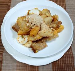 식빵 바나나 범벅