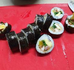 김밥 맛있게 싸는법