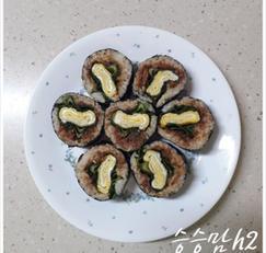 참치 상추 김밥 맛있게 싸는 법