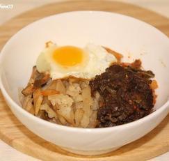 별미 콜라비밥 전기압력솥으로 지었소