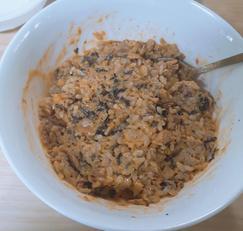 간단한 고추참치마요비빔밥