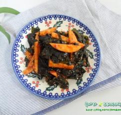 물미역요리/미역사과초무침