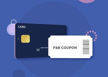 BC/KB/농협카드로 10만원 이상 구매 고객께 F&B 1만원 이용권을 드립니다.