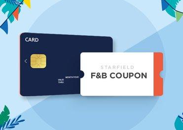 BC/삼성/KB/NH카드로 구매고객께 F&B 이용권 증정