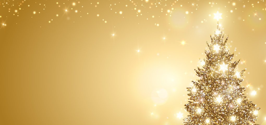 Christmas Gold Forest