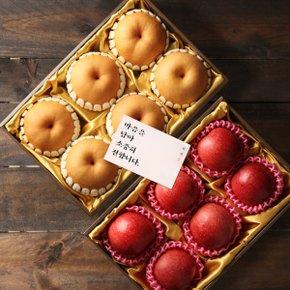 [10월5일(월) 순차출고][정담][과일선물세트] 노블레스 사과배콤보세트 왕특호(사과6개입,배6개입)