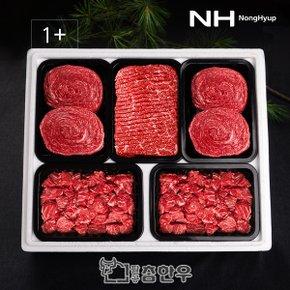 [냉장]한우 1+등급 정육 선물세트 2호 3.0kg (불고기600gx2팩,국거리600gx2팩,산적600g)