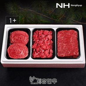 [냉장]한우 1+등급 정육 선물세트 3호 1.8kg (불고기,국거리,산적 각600g)
