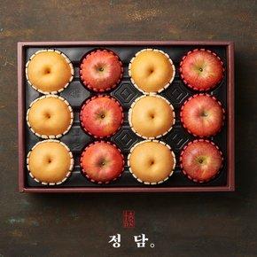 [9월 27일 오전 8시 주문마감][정담][낭만과일]명품 사과.배 혼합세트2호 5.5kg(사과6입,신고배6입)