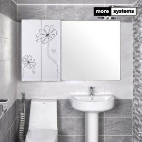 코스모스 800 PS 욕실장 [유리선반]/욕실수납장/욕실선반