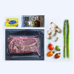 [본미트] 냉장 부채살시즈닝스테이크세트(미국산) 200g