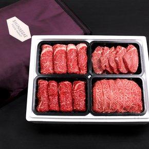 [냉장]한우 신세계백화점 1++등급 7 프리미엄 선물세트 8호 2.4kg (등심,안심,채끝,부채살 각600g)