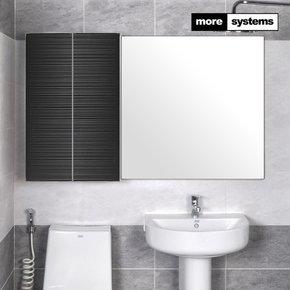 스마트 블랙 800 PS 욕실장 [유리선반]/욕실수납장 욕실선반