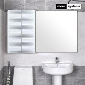스마트 화이트 800 PS 욕실장 [유리선반]/욕실수납장 욕실선반