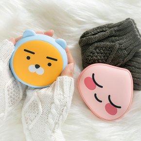 [유선셀카봉증정]카카오프렌즈 얼굴형 손난로 보조배터리 시즌2 5000mAh