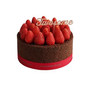 [E쿠폰] [투썸플레이스]스트로베리 초콜릿 생크림