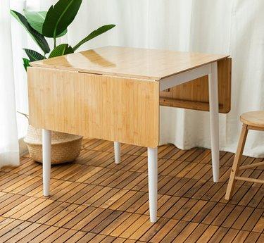 지아이비 드롭리프 대나무 원목 식탁 테이블 GDT-001
