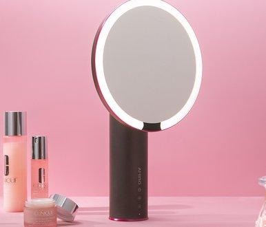 아미로 프로페셔널 메이크업 LED조명거울 그레이(5x 마그넷 미러 증정)