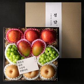 [10월5일(월) 순차출고][정담] Premium 샤인 애플망고 혼합 선물세트 (사과3개, 배3개, 샤인2송이, 애플망고2개)