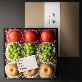 [10월5일(월) 순차출고][정담] Premium 샤인 혼합 선물세트 (사과3개, 배3개, 샤인3송이)