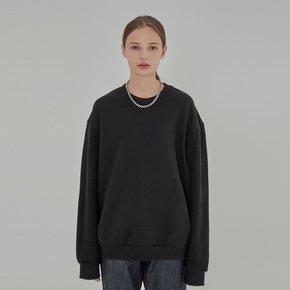 WOMEN INSIDE OUT HEAVY SWEAT SHIRT BLACK
